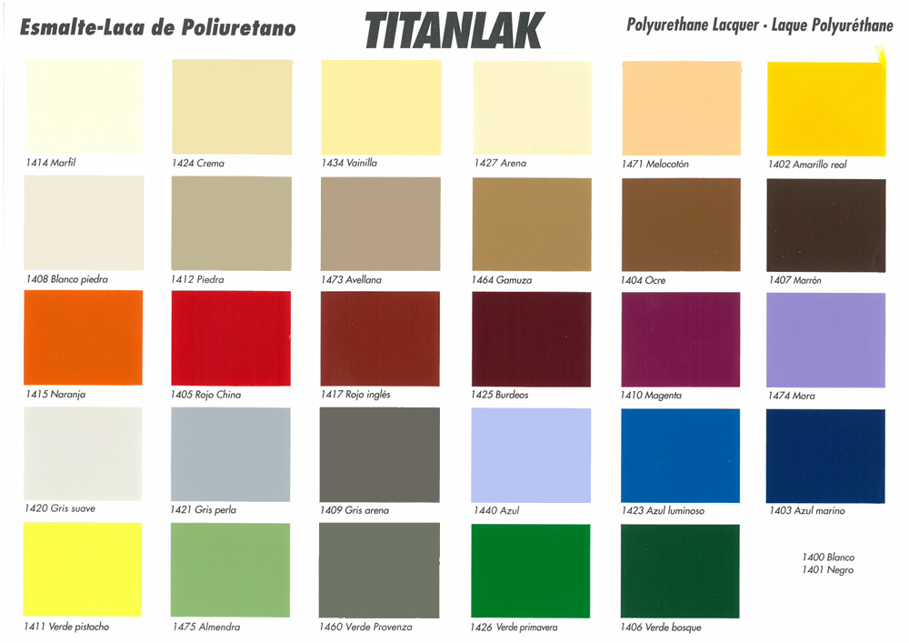 Titanlak satinado blanco y colores nogelsa for Pintura color piedra paris